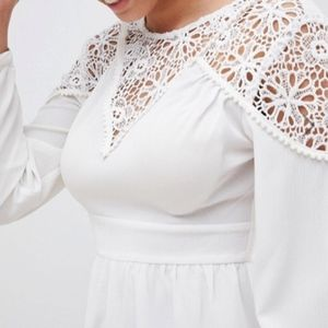 ASOS Other - White Lace Romper